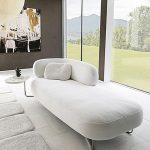 The chaise lounge relaxes the decor! - Trendy Home Decorations