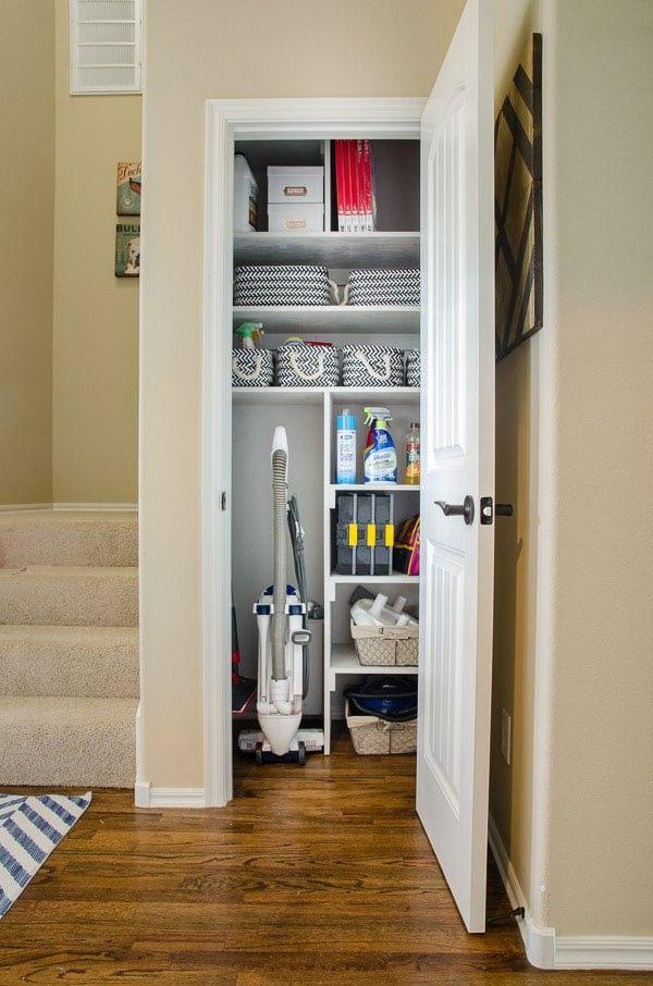 This Clever Idea Quadruples the Storage Possibilities in a Tiny Coat Closet — POPSUGAR