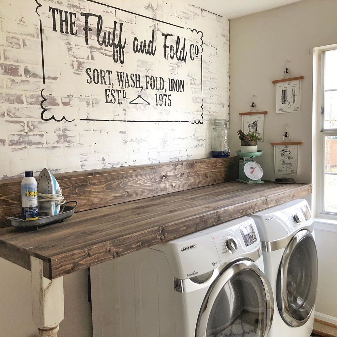 """This Hand Painted Home on Instagram: """"Love the way our laundry room project came out 😍 What is your favorite project in your home? ALSO- Don't forget that there is a sale going…"""""""