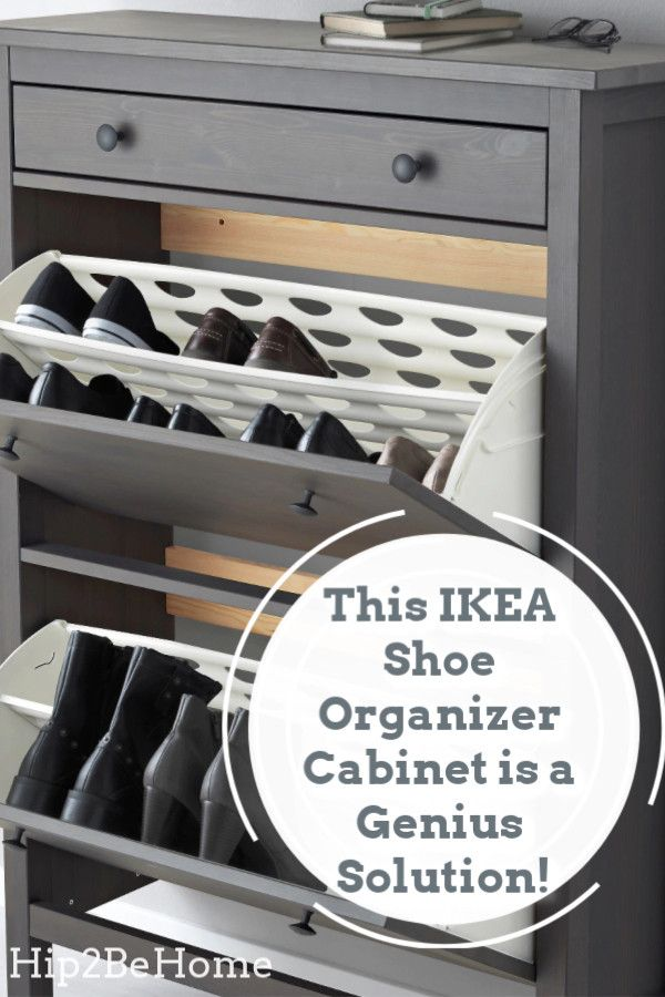 This IKEA Shoe Organizer Cabinet is a Genius Solution for Messy Entryways
