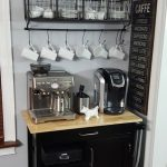 This coffee bar on wheels is perfect for the space in this home. As you can see,...