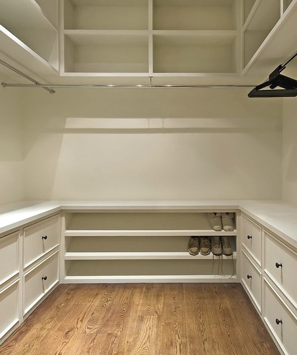 This is a nice layout for Ben. He likes drawers for t-shirt, socks, etc. He tend…