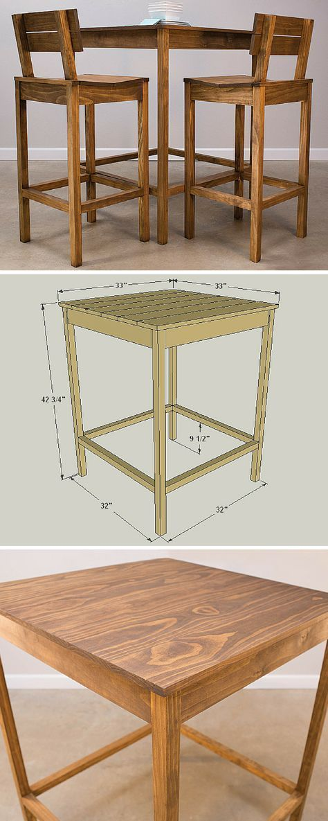 This pub table looks great, and will fit in your kitchen—or many other places… – worldefashion.com/decoration