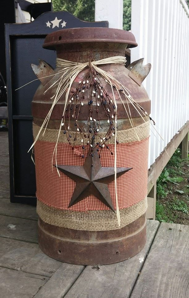 This was an easy project using an old milk can.  All you need is  an old milk …