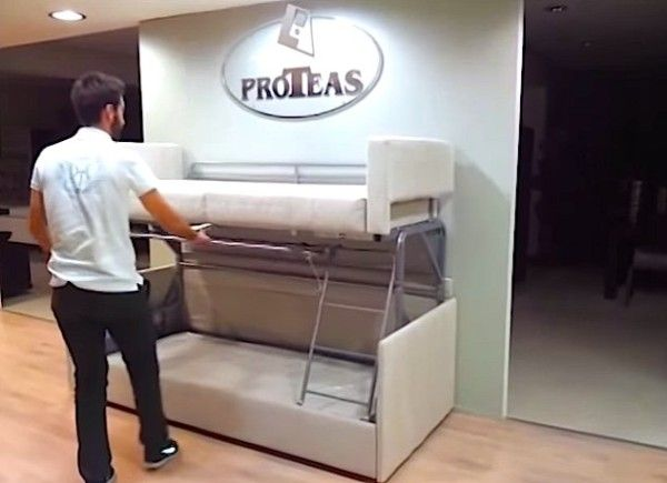 Tiny House Furniture: Sofa to Bunk Bed in 14 Seconds