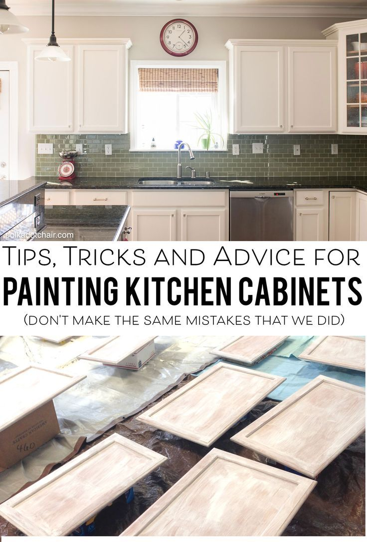 Tips and Tricks for Painting Kitchen Cabinets – Polka Dot Chair