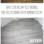 Tips on How to Install Tile Flooring in a Bathroom with Ridgemont Silver Tiles • Keeping it Simple