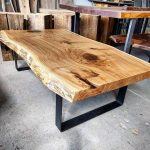 Today's completed project - jumbo live edge white oak coffee table. This monster...