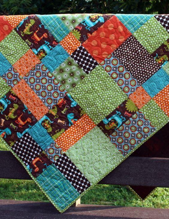 Toddler Quilt Patterns dinosaurs quilt patterns for boys boy quilt for toddler b…