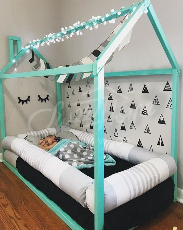 Toddler bed, House shaped bed, loft bed Nursery wood house bed home Montessori toy frame bed Original bed Home bed Developing toy SLATS