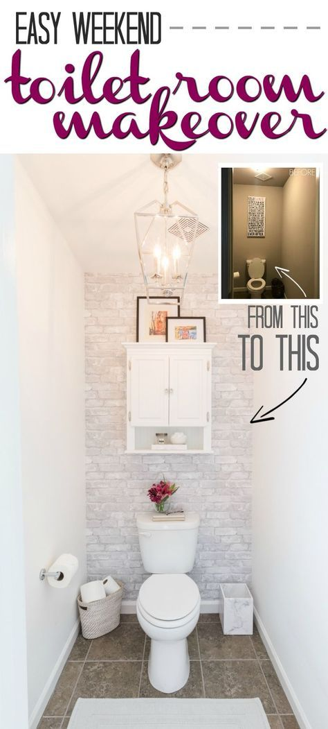 Toilet Room Makeover Reveal and Clever Bathroom Storage | Kelley Nan