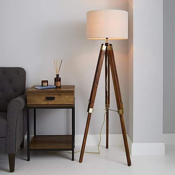 Trio Natural Tripod Floor Lamp