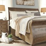 Trishley King Sleigh Bed, Light Brown