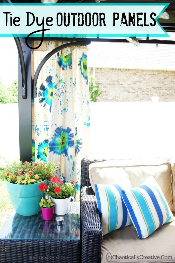 Tulip Tie Dye Outdoor Gazebo Panels – Chaotically Creative