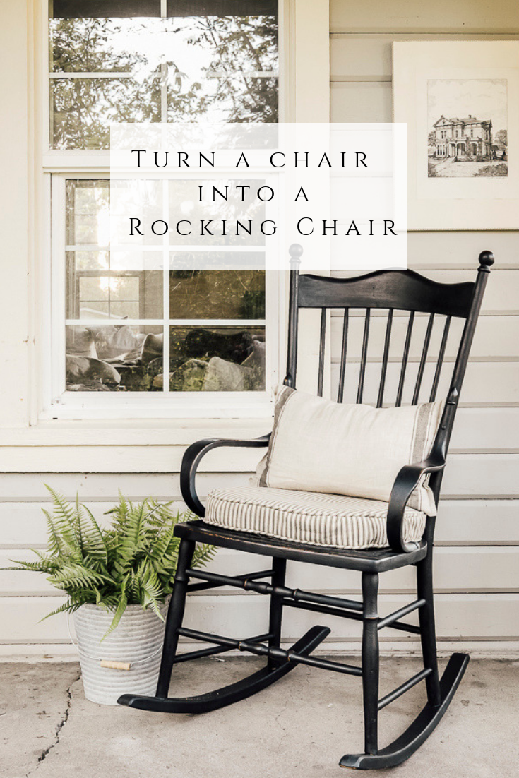 Turn a Chair into a Rocking Chair – She Holds Dearly