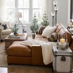 Turner Square Arm Leather Sofa With Chaise Sectional