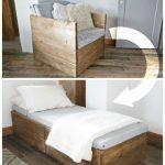 Twin Sleeper Chair #WoodWorking - Wood Design