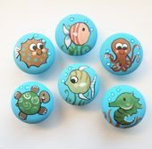 Underwater / Ocean (Fish, Turtle and more) Drawer Pulls / Dresser Knobs and Pull…