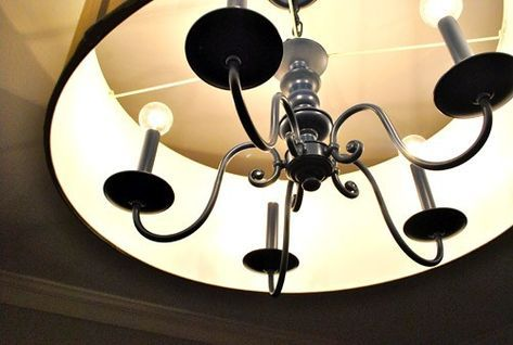 Upgrading An Old Chandelier With Paint & A New Shade | Young House Love