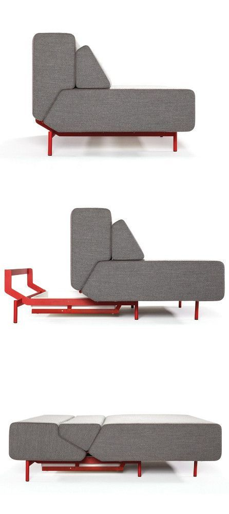 Upholstered sofa bed PIL-LOW By prostoria
