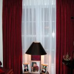 Use Red and White curtains for a sophisticated and an elegant look | Drapery Roo...