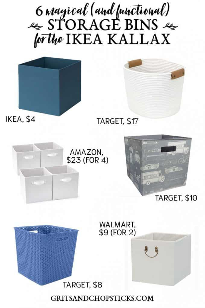 Using Cube Storage Bins in Your Magic IKEA KALLAX – Grits and Chopsticks