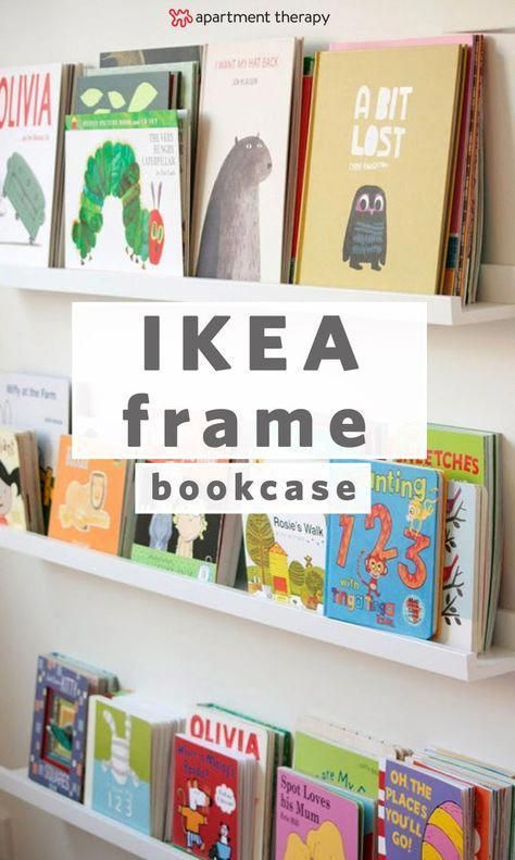 Using IKEA Picture Ledges as Bookshelves in a Nursery