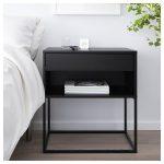 VIKHAMMER Nightstand - black - IKEA