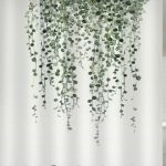 Vine Plant Print Waterproof Bathroom Shower Curtain