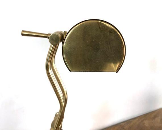 Vintage Lamp | Brass Desk Light | Piano/Banker's Lamp | Home Lighting Decor