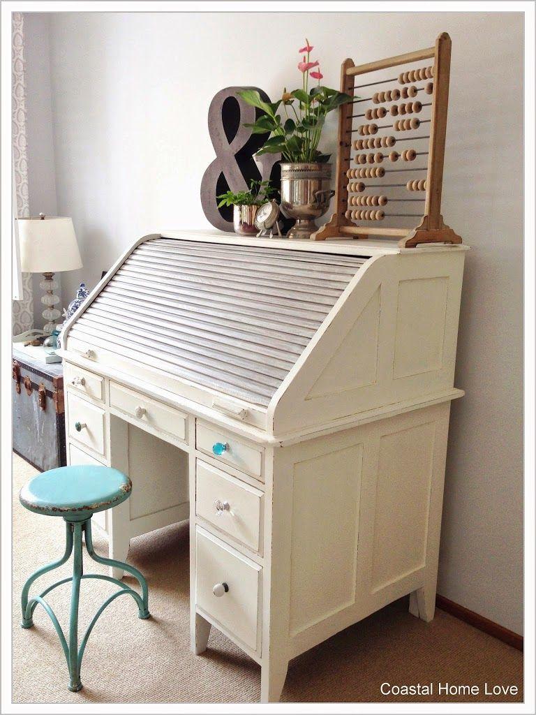 Vintage Roll Top Desk Gets a Coastal Home Love Makeover! | Coastal Home Love