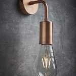 Vintage Sleek Edison Wall Light in Copper by Industville