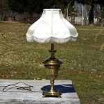 "Vintage Stiffel Lamp, Heavy Brass Light, Model 1222 Acanthus, 26.5"" Tall Lighting, Accent Table Decor, Desk Office Decoration"