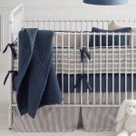 Vintage Ticking Stripe Crib Bumper