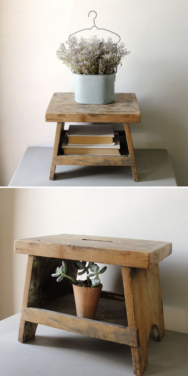 Vintage Wooden Step Stool                                                       …