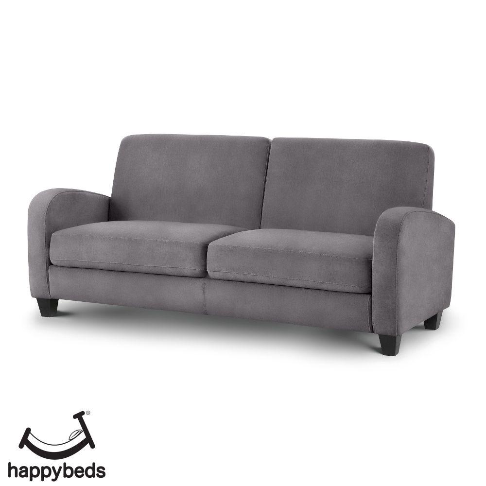 Vivo Grey Fabric 3 Seater Sofa