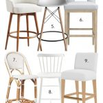 WHITE BAR STOOLS WITH BACKS – 12 OPTIONS