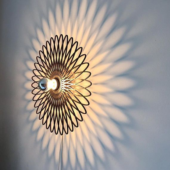 Wandlampe, Spirale, Ornement – Wood Design