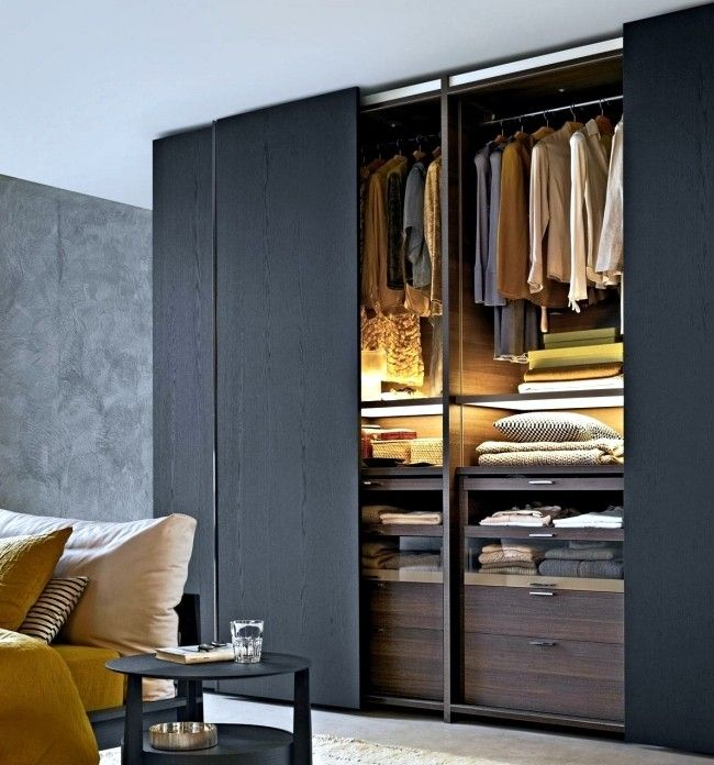 Wardrobe With Sliding Doors-A Wonderful Storage Space Under inside 2 Door Slidin…