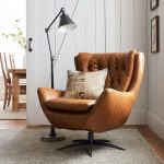 Wells Leather Tufted Swivel Armchair