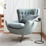 Wells Tufted Upholstered Swivel Armchair