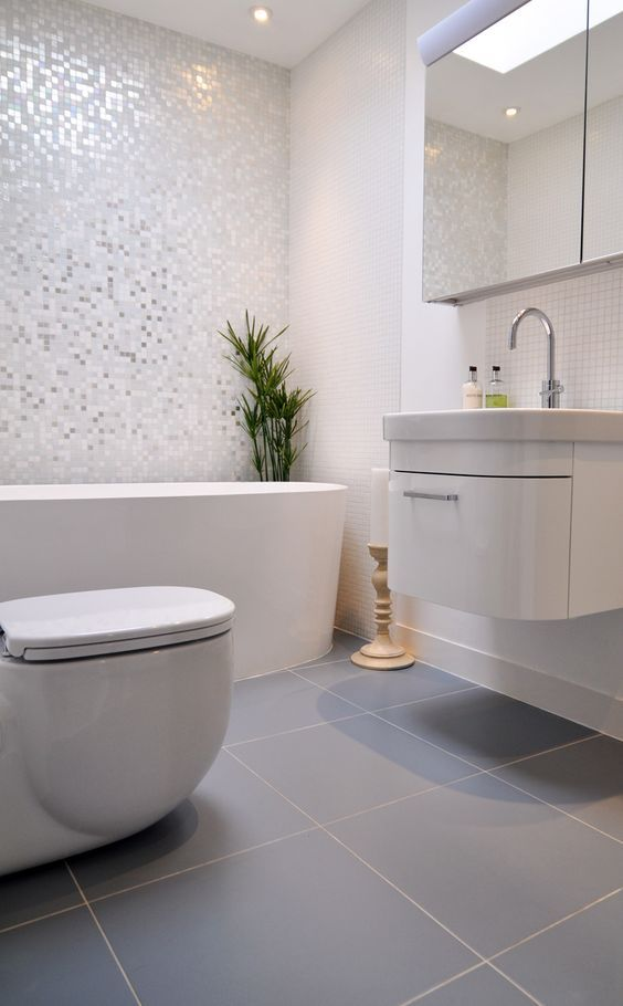 White 1″ x 1″ Pearl Shell Tile