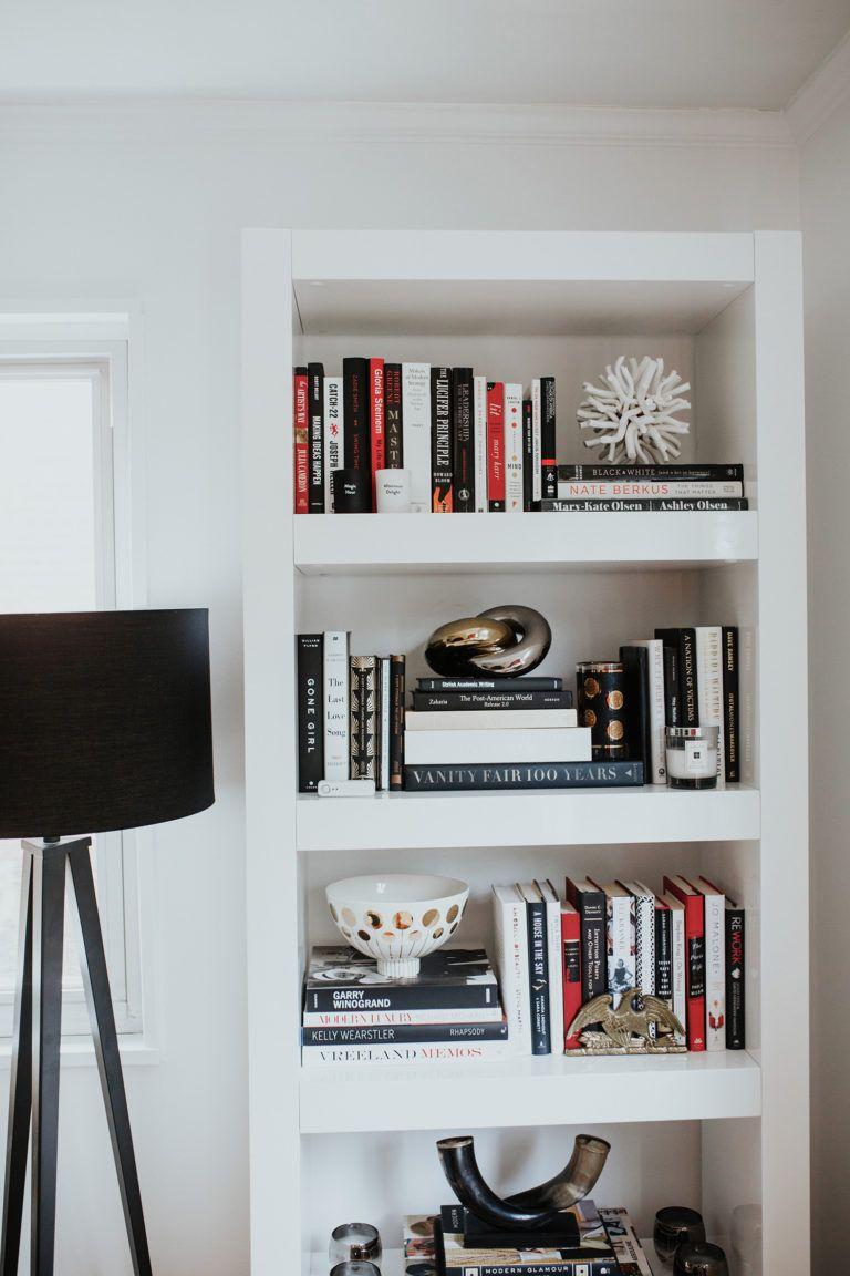 White + Black Bookshelf