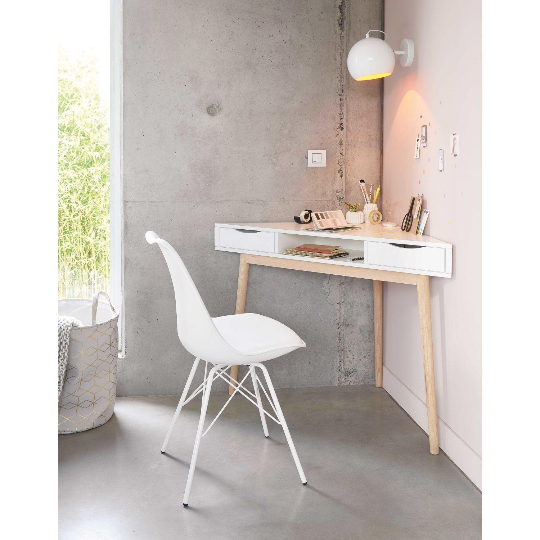 White Vintage Corner Desk | Maisons du Monde