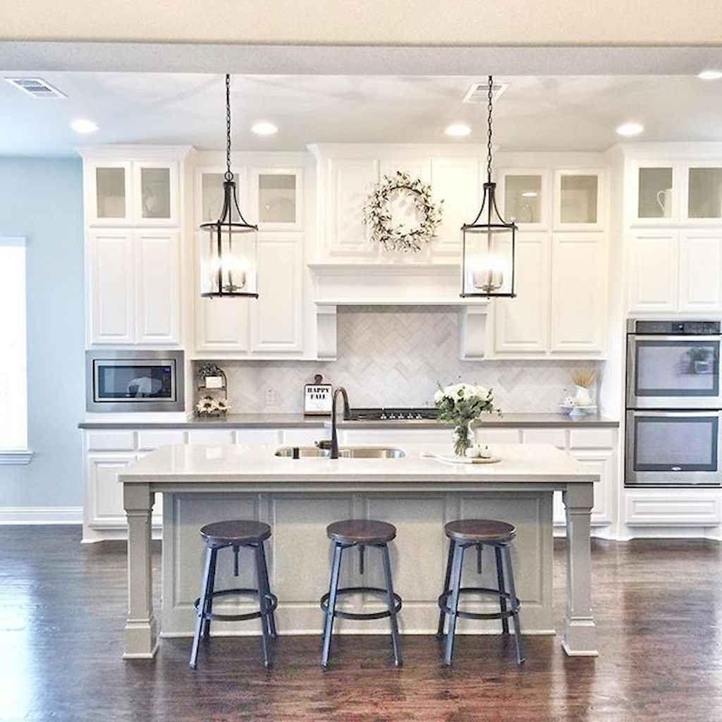 White kitchen cabinet design ideas (48) – HomeSpecially