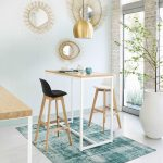 White metal bar table L120 | Maisons du Monde