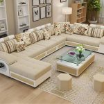 Wholesale Factory wholesale fabric U shaped sectional sofa, modern European styl...