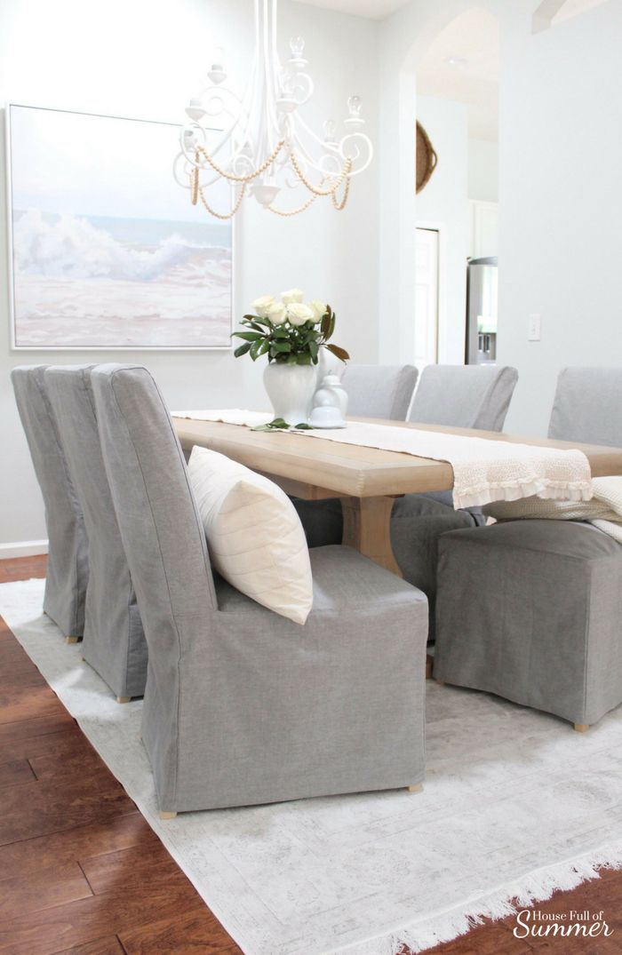 Why I Love My Comfort Works Dining Chair Covers — House Full of Summer – Coastal Home & Lifestyle