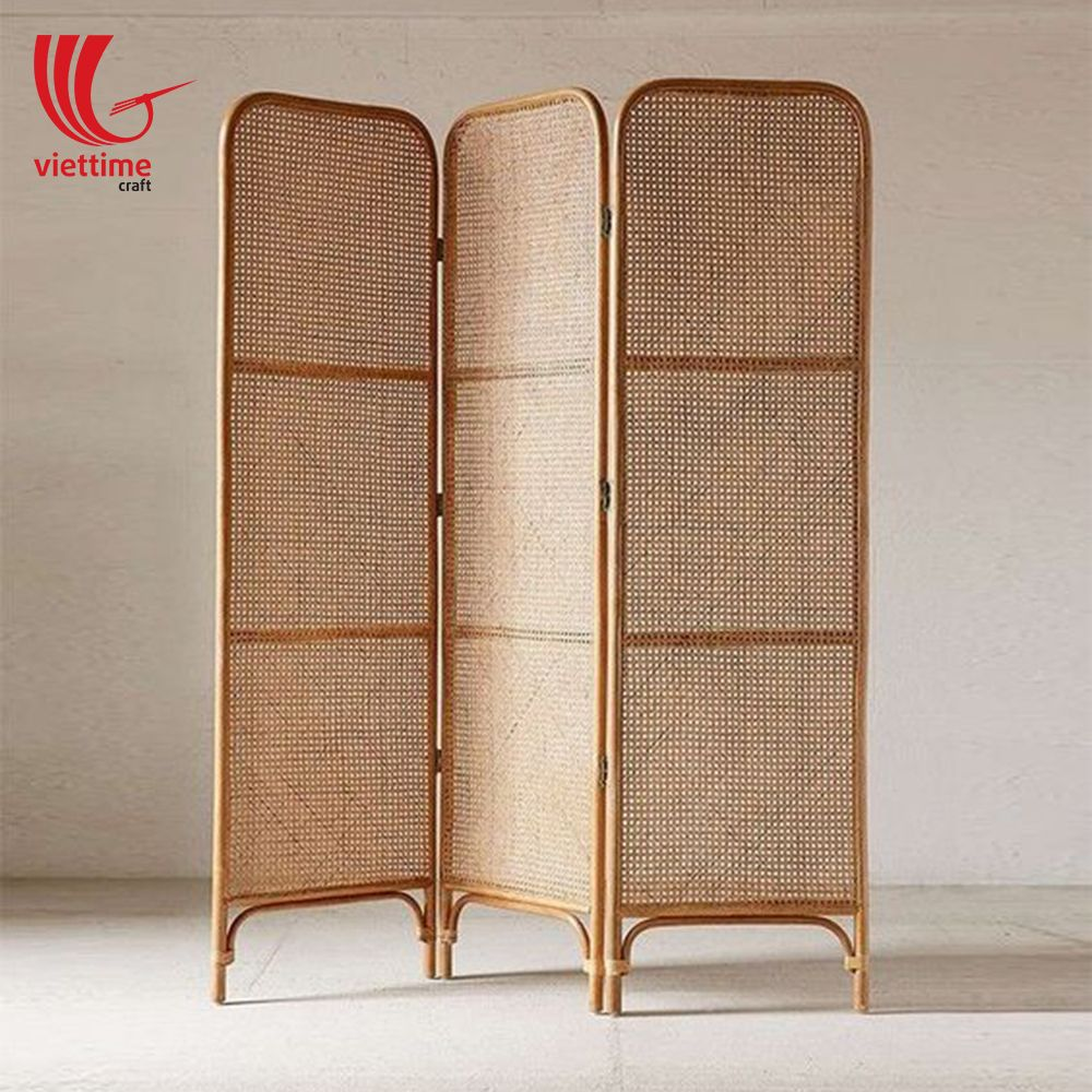 Wicker Rattan Folding Screen Room Divider Wholesale / Viettime Craft