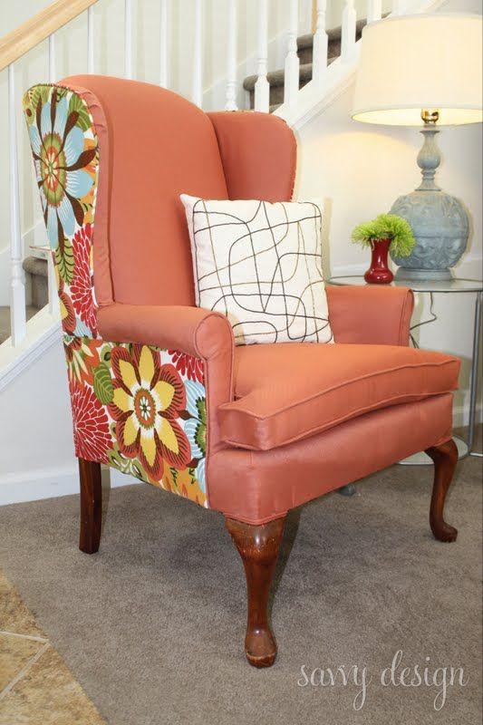 Wingback Chair Reupholstering Tutorial